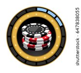 isolated casino score bar on a...