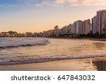 cityscape of pitangueiras beach ... | Shutterstock . vector #647843032