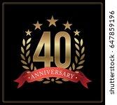 40 years golden anniversary... | Shutterstock .eps vector #647859196