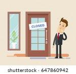 businessman surprised standing... | Shutterstock .eps vector #647860942