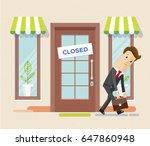 businessman has become bankrupt ... | Shutterstock .eps vector #647860948