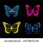 vector illustration of neon... | Shutterstock .eps vector #647865118