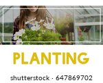 Small photo of Beautiful life of woman gardening in nature