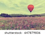 hot air balloon over cosmos... | Shutterstock . vector #647879836