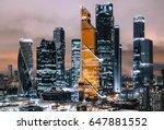 moscow international business... | Shutterstock . vector #647881552