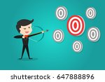 successful businessman aiming... | Shutterstock .eps vector #647888896