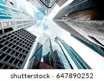 skyscrapers shot with... | Shutterstock . vector #647890252