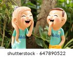 enjoy boy and girl doll made... | Shutterstock . vector #647890522