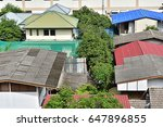 the building  the roof and the... | Shutterstock . vector #647896855