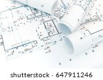 architectural project plan and... | Shutterstock . vector #647911246