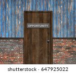 opportunity door | Shutterstock . vector #647925022