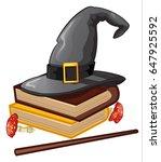 wizard hat  vector   Shutterstock .eps vector #647925592