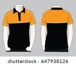 polo neck shirt design | Shutterstock .eps vector #647938126