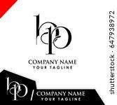 initial logo design bp | Shutterstock .eps vector #647938972