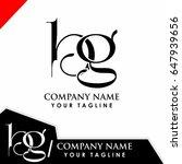 bg initial logo design  | Shutterstock .eps vector #647939656