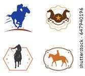 horse racehorse vintage logo