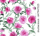 watercolor seamless pattern.... | Shutterstock . vector #647947525