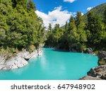 hokitika gorge  the vivid...   Shutterstock . vector #647948902