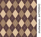 seamless argyle pattern brown.... | Shutterstock .eps vector #647950042