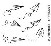 vector paper airplane. travel ... | Shutterstock .eps vector #647953096