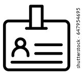 id card vector icon | Shutterstock .eps vector #647954695
