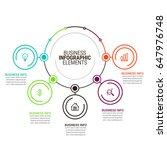 business infographics template   Shutterstock .eps vector #647976748