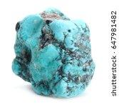 Turquoise Stone Isolated On...