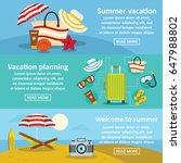 summer rest banner horizontal...   Shutterstock .eps vector #647988802