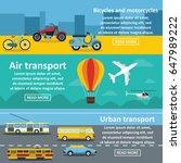 transportation banner... | Shutterstock .eps vector #647989222