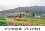 siberia village view  | Shutterstock . vector #647989585