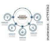 infographic elements templates | Shutterstock .eps vector #647993362
