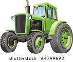 old agricultural tractor of the ... | Shutterstock .eps vector #64799692