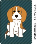 illustration of a beagle dog is ...   Shutterstock .eps vector #647997616