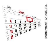 june 1  highlighted on 2017...   Shutterstock .eps vector #648003616