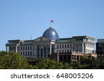 the presidential palace in the... | Shutterstock . vector #648005206