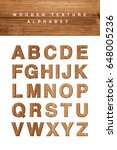 wooden alphabet blocks with... | Shutterstock . vector #648005236