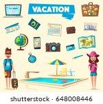 happy family in travel. journey ... | Shutterstock .eps vector #648008446