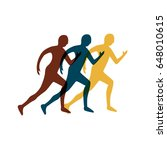 icon silhouette running man | Shutterstock .eps vector #648010615