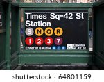 Times Square Subway Station In...
