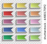 colorful ribbons collection...   Shutterstock .eps vector #648017092