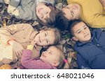large group of children. happy... | Shutterstock . vector #648021046