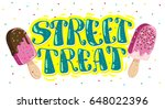 flat ice cream truck  shop ... | Shutterstock . vector #648022396