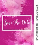 colorful save the date card ...   Shutterstock .eps vector #648024136