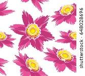 vector flowers tile illustration   Shutterstock .eps vector #648028696