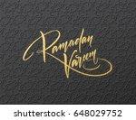 gold glitter lettering ramadan...   Shutterstock .eps vector #648029752