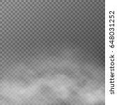 fog or smoke isolated...   Shutterstock .eps vector #648031252