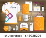 network gift items  color... | Shutterstock .eps vector #648038206