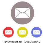 mail icon set | Shutterstock .eps vector #648038542