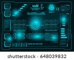 futuristic virtual graphic...   Shutterstock .eps vector #648039832