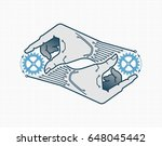 self replication. vector... | Shutterstock .eps vector #648045442